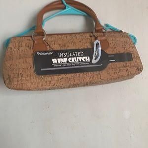 insulated wine clutch NWT